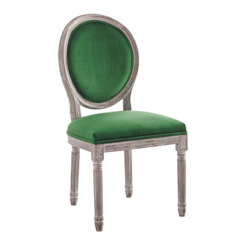 Modway EEI-4668 Emanate Vintage French Performance Velvet Dining Side Chair