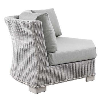 Modway EEI-4844 Conway Outdoor Patio Wicker Rattan Round Corner Chair