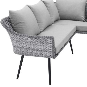 Modway EEI-4658 Endeavor Outdoor Patio Wicker Rattan Sectional Sofa