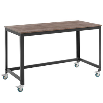 Vivify Computer Office Desk Gray Walnut EEI-2852-GRY-WAL