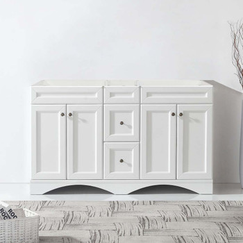 """Virtu USA ED-25060-CAB-WH Talisa 60"""" Cabinet Only in White"""