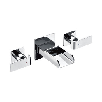 ALFI brand AB1796-PC Polished Chrome Widespread Wall Mounted Modern Waterfall Bathroom Faucet