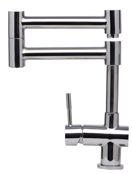 ALFI brand AB2038-PSS Solid Polished Stainless Steel Retractable Single Hole Kitchen Faucet