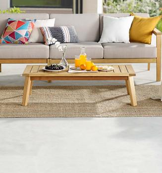 Sedona Outdoor Patio Eucalyptus Wood Coffee Table EEI-3682-NAT Natural
