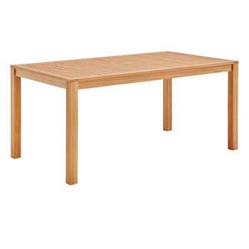 """Farmstay 63"""" Rectangle Outdoor Patio Teak Wood Dining Table EEI-3719-NAT Natural"""