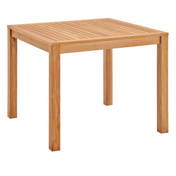 """Farmstay 36"""" Square Outdoor Patio Teak Wood Dining Table EEI-3720-NAT Natural"""