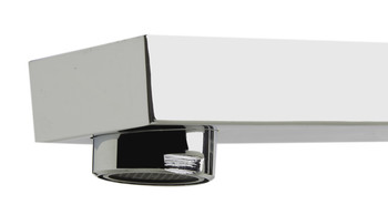 ALFI brand AB2322-PC Polished Chrome Deck Mounted Tub Filler and Square Hand Held Shower Head