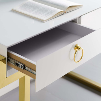 Ring Office Desk EEI-3862-GLD-WHI Gold White