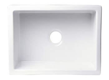 "ALFI brand AB2418SB-B  24"" Biscuit Smooth Thick Wall Fireclay Single Bowl Farm Sink"