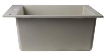 "ALFI brand AB2420DI-B Biscuit 24"" Drop-In Single Bowl Granite Composite Kitchen Sink"