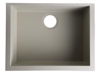 """ALFI brand AB2420UM-B Biscuit 24"""" Undermount Single Bowl Granite Composite Kitchen Sink"""
