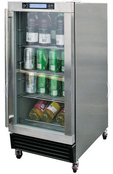 Cal Flame14-Inch Outdoor Rated 3.25 Cubic Foot Beverage Refrigerator - BBQ10715