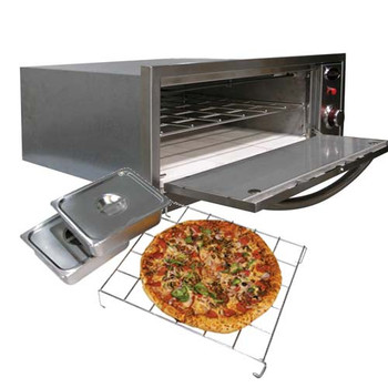 Cal Flame 2-in-1 Built-In 110V Electric Stainless Steel Outdoor Warming / Pizza Oven - BBQ14967E