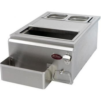 Cal Flame 18-Inch Built-in Cocktail Center With Ice Bin Cooler - BBQ11842P-18