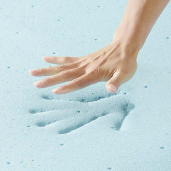"Relax Full 2"" Gel Memory Foam Mattress Topper MOD-5572-WHI"