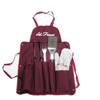 Cal Flame BBQ11100082  Utensil set with Apron and Glove