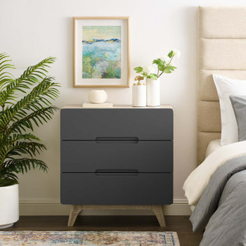 Origin Three-Drawer Chest or Stand MOD-6074-NAT-GRY Natural Gray