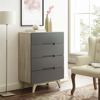 Origin Four-Drawer Chest or Stand MOD-6075-NAT-GRY Natural Gray