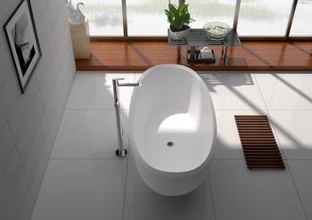 "Legion Furniture 65"" WHITE MATT SOLID SURFACE TUB WJ8639-W"