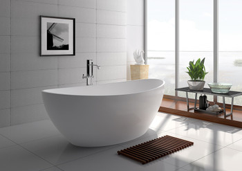 "Legion Furniture 71"" White Matt Solid Surface Tub WJ8643-W-L"
