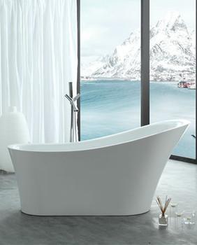 "Legion Furniture WE6843-67"" WHITE ACRYLIC TUB"