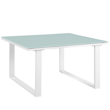 Fortuna Outdoor Patio Side Table EEI-1515-WHI-SET White
