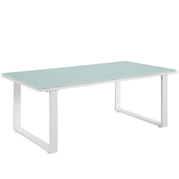 Fortuna Outdoor Patio Coffee Table EEI-1516-WHI-SET White