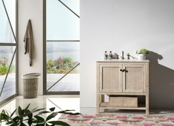 """Legion Furniture WH5136 36"""" SOLID WOOD SINK VANITY WITH MARBLE TOP-NO FAUCET"""