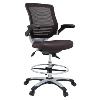 Edge Drafting Chair EEI-211-BRN Brown