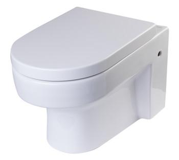 EAGO WD101 Round Modern Wall Mount Dual Flush Toilet Bowl