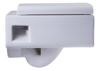 EAGO WD333 Square Modern Wall Mount Dual Flush Toilet Bowl