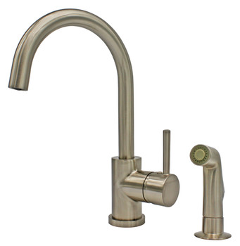 Single handle kitchen faucet with side spray N88620B1-BN