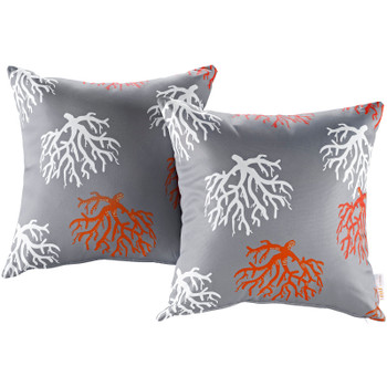 Modway Two Piece Outdoor Patio Pillow Set EEI-2401-ORC Orchard