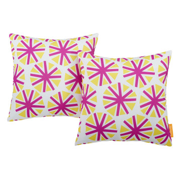 Modway Two Piece Outdoor Patio Pillow Set EEI-2401-STA Starburst