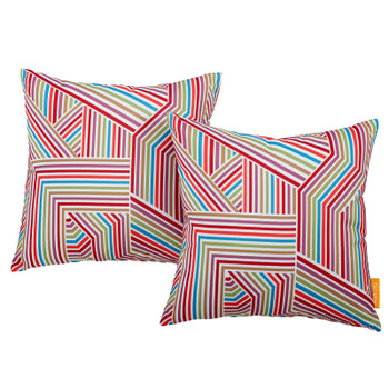 Modway Two Piece Outdoor Patio Pillow Set EEI-2401-TAP Tapestry