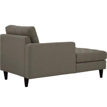 Empress Left-Arm Upholstered Fabric Chaise EEI-2596-GRA Granite