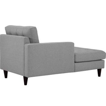 Empress Left-Arm Upholstered Fabric Chaise EEI-2596-LGR Light Gray