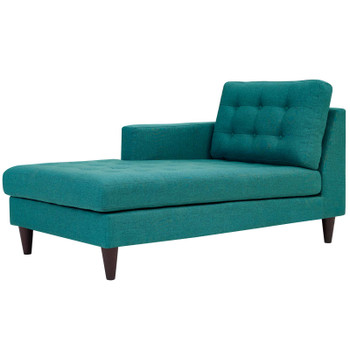 Empress Left-Arm Upholstered Fabric Chaise EEI-2596-TEA Teal