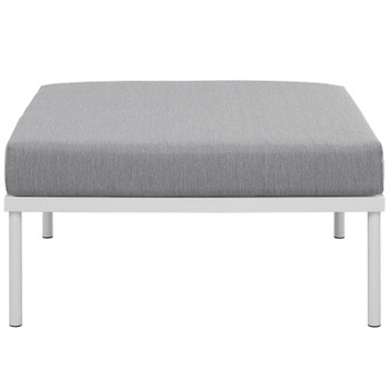 Harmony Outdoor Patio Aluminum Ottoman EEI-2609-WHI-GRY White Gray
