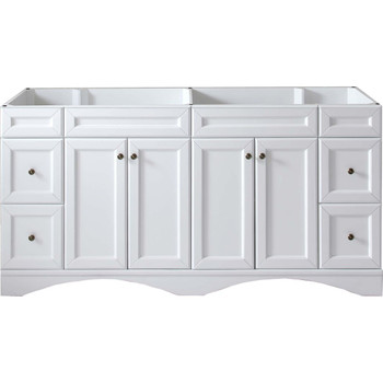 "Virtu USA Talisa 72"" Cabinet Only in White"