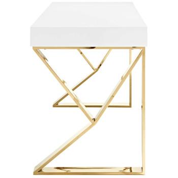 Adjacent Desk EEI-3031-WHI White Gold