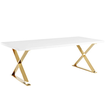 Sector Dining Table EEI-3034-WHI White Gold