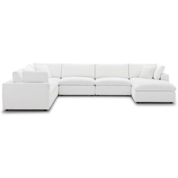 Commix Down Filled Overstuffed 7 Piece Sectional Sofa Set EEI-3364-WHI White