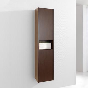"""Virtu USA ESC-621-WA Delmore 12"""" Linen Cabinet in Walnut"""