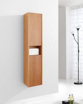 """Virtu USA ESC-621-CH Delmore 12"""" Linen Cabinet in Chestnut"""
