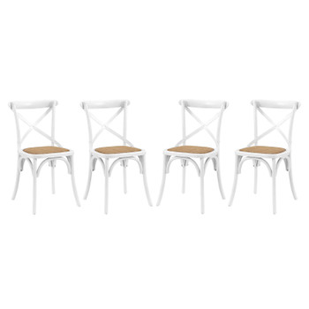 Gear Dining Side Chair Set of 4 EEI-3482-WHI White