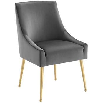 Discern Upholstered Performance Velvet Dining Chair EEI-3508-GRY