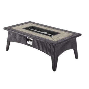 Convene 3 Piece Set Outdoor Patio with Fire Pit EEI-3724-EXP-MOC-SET