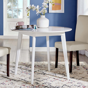 "Vision 35"" Round Dining Table EEI-3750-WHI White"