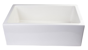 "ALFI brand AB3018SB-B  30"" Biscuit Smooth Apron Thick Wall Fireclay Single Bowl Farm Sink"